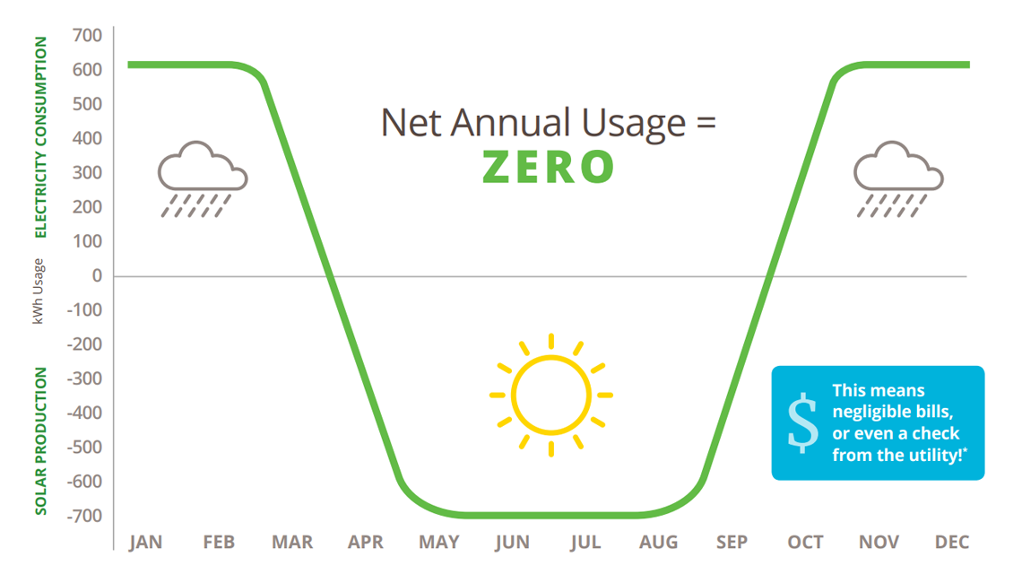 Net Zero energy chart