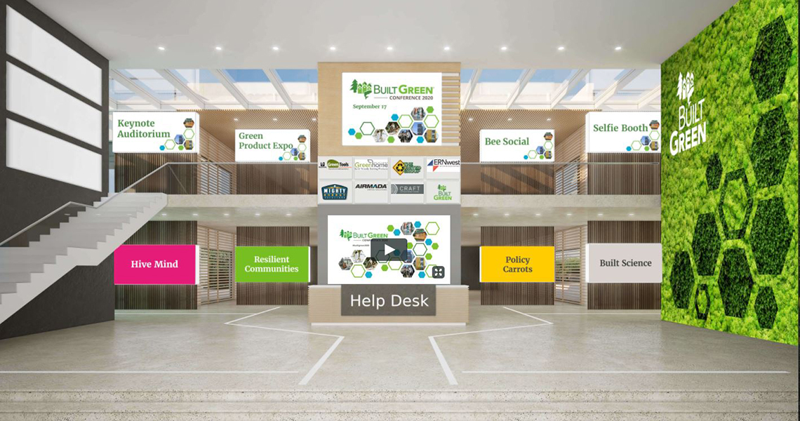 2020 Built Green Virtual Conference lobby