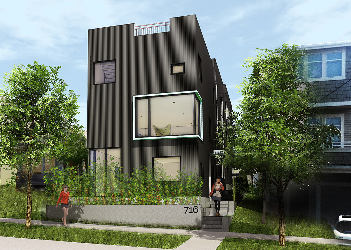 HyBrid Architecture Rowhouse Render
