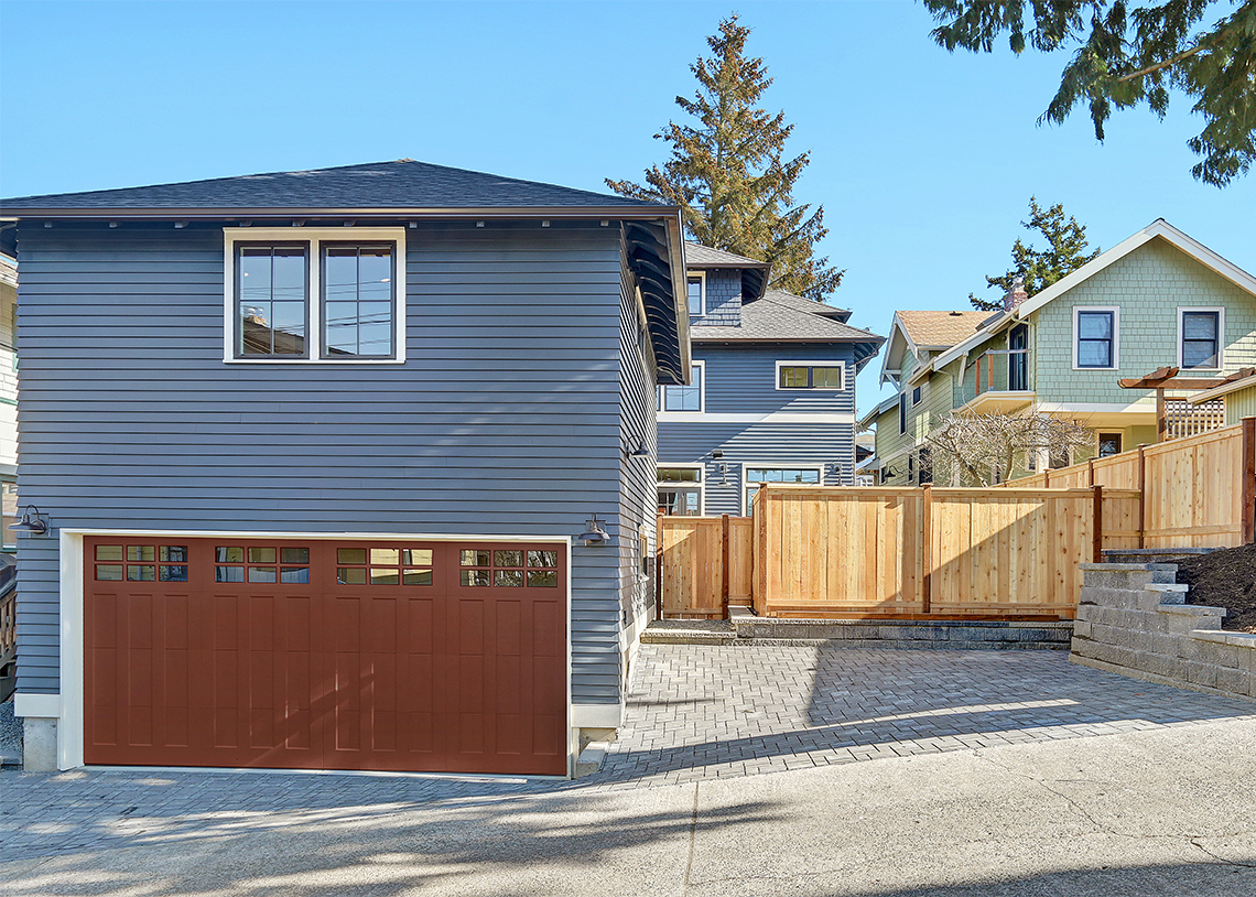 C4Digs Construction Queen Anne Single Family Built Green 4-Star garage with an ADU above