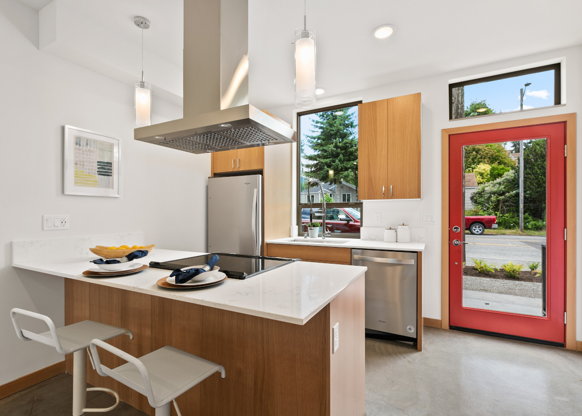Haberzetle Homes Playful All-Electric 4-Star Townhomes kitchen