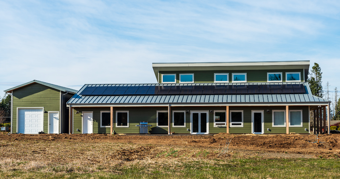 TC Legend Homes Everson net positive home exterior with solar panels