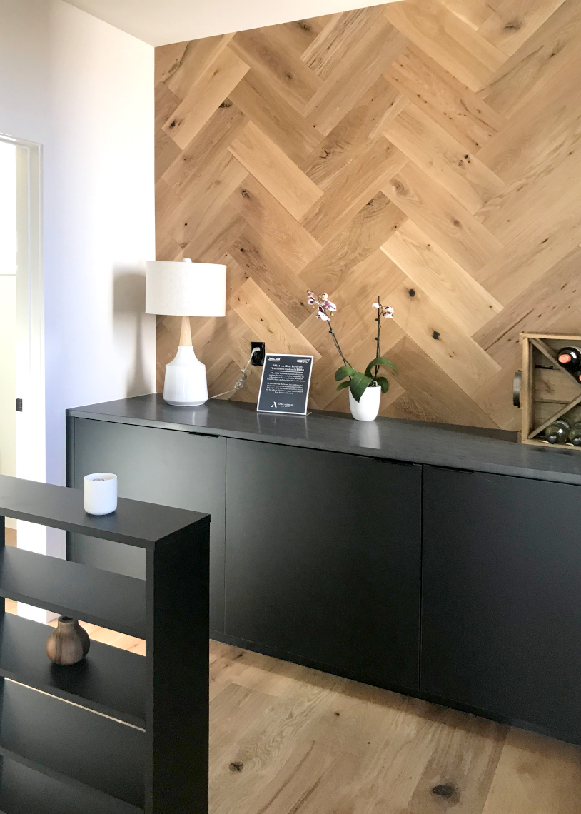 nwBuilt Built Green 5-Star Ballard townhomes cabinetry with feature wall