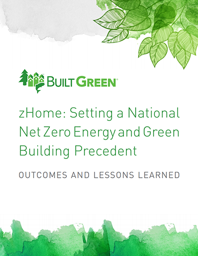 zHome: Setting a National Net Zero Energy and Green Building Precedent